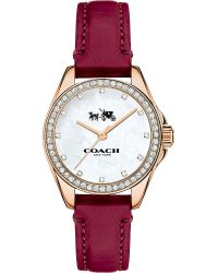 COACH - Multicolor Tristen Rose Gold-plated And Leather Watch - Lyst