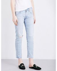 Citizens of Humanity   Blue Emerson Slim-fit Boyfriend Mid-rise Jeans   Lyst