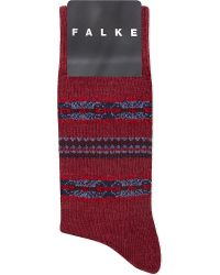 Falke | Red Lhasa Wool-cashmere Blend Socks for Men | Lyst