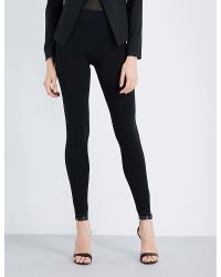 Wolford | Black High-rise Skinny Jersey Leggings | Lyst