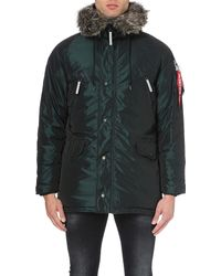 Alpha Industries - Multicolor N3-b Quilted Shell Parka Coat for Men - Lyst