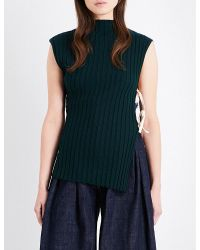Jacquemus - Green Laa Maille Ribbed-knit Top - Lyst