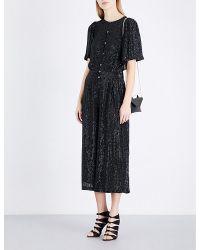 Temperley London | Black Olina Cropped Embellished Jumpsuit | Lyst