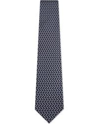 Ferragamo - Blue Dog Print Silk Tie for Men - Lyst