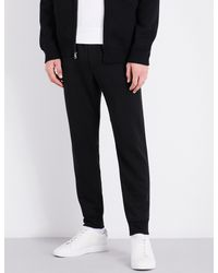 Polo Ralph Lauren | Black Tapered Cotton-blend Jogging Bottoms for Men | Lyst