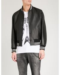 The Kooples - Black Leather Bomber Jacket for Men - Lyst