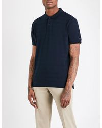 Tommy Hilfiger | Blue Slim-fit Cotton-piqué Polo Shirt for Men | Lyst
