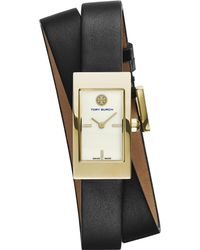 Tory Burch - White The Buddy Signature Double-wrap Gold-toned Stainless Steel Watch - Lyst