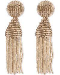 Oscar de la Renta - Metallic Classic Tassel Clip-on Earrings - Lyst