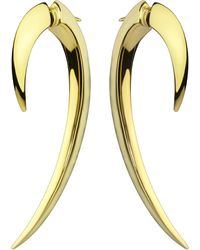 Shaun Leane - Black Sterling Silver And Gold Vermeil Hook Earrings Size 1 - Lyst