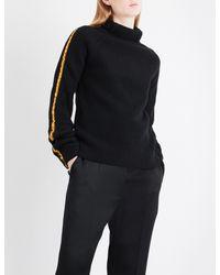 Haider Ackermann - Black Satin-trim Wool And Cashmere-blend Jumper - Lyst