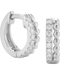 The Alkemistry - Dana Rebecca 14ct White Gold And Diamond Earrings - Lyst