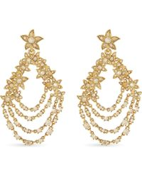 Oscar de la Renta - Metallic Star Fish Swarovski Crystal Drop Earrings - Lyst
