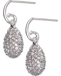Links of London - Metallic Hope Egg White Topaz Earrings - Lyst