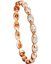 Astley Clarke - Pink 14ct Rose Gold Ring With Diamond Drops - Lyst