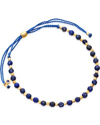 Astley Clarke - Blue Lapis And 18ct Yellow Gold-plated Skinny Biography Bracelet - Lyst