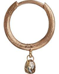 Annoushka | Metallic Hoopla Diamond 18ct Rose-gold Hoop Earring | Lyst