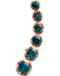 Annoushka - 18ct Rose Gold And Blue Diamond Left Ear Pin - Lyst