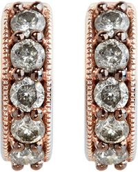 Annoushka | Gray 18ct Rose Gold And Grey Diamond Hoop Earrings | Lyst