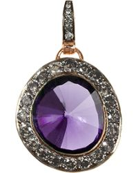 Annoushka - Purple 18ct Rose Gold Amethyst And Grey Diamond Pendant - Lyst