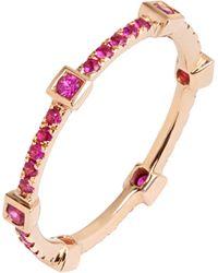 Annoushka | Pavilion Pink Sapphire 18ct Rose Gold Eternity Ring | Lyst