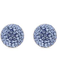 Marc Jacobs - Blue Pavé Stone Cone Stud Earrings - Lyst