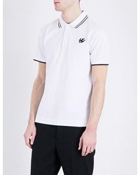 McQ | White Swallow-logo Cotton-piqué Polo Shirt for Men | Lyst