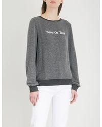 Wildfox - Black Never On Time Fleece Sweatshirt - Lyst