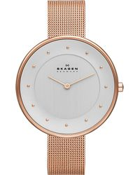 Skagen - Metallic Skw2142 Gitte Rose Gold-toned Stainless Steel Bracelet - Lyst