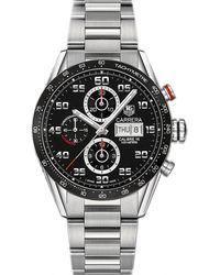 Tag Heuer - Metallic Cv2a1rba0799 Carrera Stainless Steel Watch for Men - Lyst
