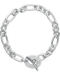 Links of London - Metallic Signature Sterling Silver Charm Bracelet - Lyst
