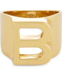 Chloé | Metallic Alphabet B Ring | Lyst