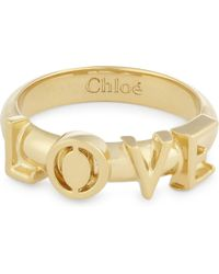 Chloé - Metallic Love Ring - Lyst