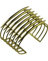 Shaun Leane - Multicolor Grid Silver And Rose-gold Vermeil Quill Cuff - Lyst