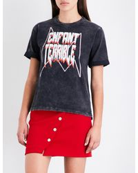 Maje - Black Enfant Terrible Cotton T-shirt - Lyst