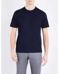 Gieves & Hawkes | Blue Crewneck Cotton T-shirt for Men | Lyst