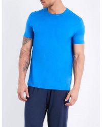 Derek Rose | Blue Basel Crewneck Jersey T-shirt for Men | Lyst