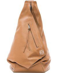Loewe - Brown Anton Leather Backpack - For Women - Lyst