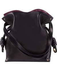Loewe | Black 'small Flamenco Knot' Nappa Leather Bag | Lyst