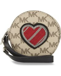 MICHAEL Michael Kors | Multicolor Heart Leather Coin Purse | Lyst