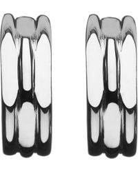 545c36887 Lyst - Links of London 20/20 Sterling Silver Hoop Earrings in Metallic