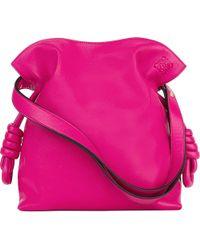 Loewe | Pink Flamenco Knot Leather Bag | Lyst