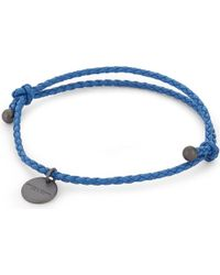 Bottega Veneta - Blue Intrecciato Nappa Leather Bracelet - Lyst