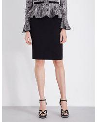 Alexander McQueen   Black High-waisted Crepe Pencil Skirt   Lyst