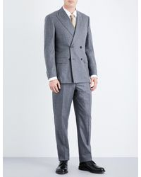 Richard James | Gray Regular-fit Wool-flannel Suit for Men | Lyst
