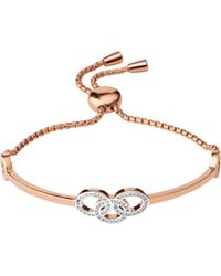Links of London - Metallic Signature 18ct Rose Gold And Sapphire Bracelet - Lyst