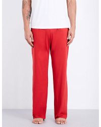 Derek Rose | Red Basel Jersey Pyjama Bottoms for Men | Lyst