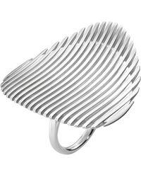 Georg Jensen | Metallic Lamellae Sterling Silver Ring | Lyst
