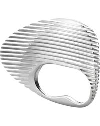 Georg Jensen - Metallic Lamellae Collection Sterling Silver Double Ring - Lyst