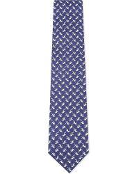Ferragamo | Blue Flying Monkeys Silk Tie for Men | Lyst